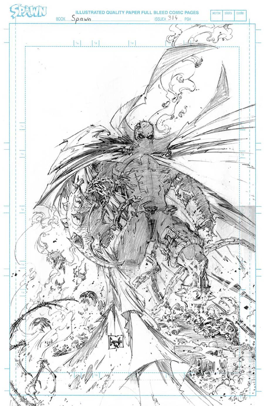 Spawn #314 Cover D Incentive Greg Capullo Raw Pencils Cover