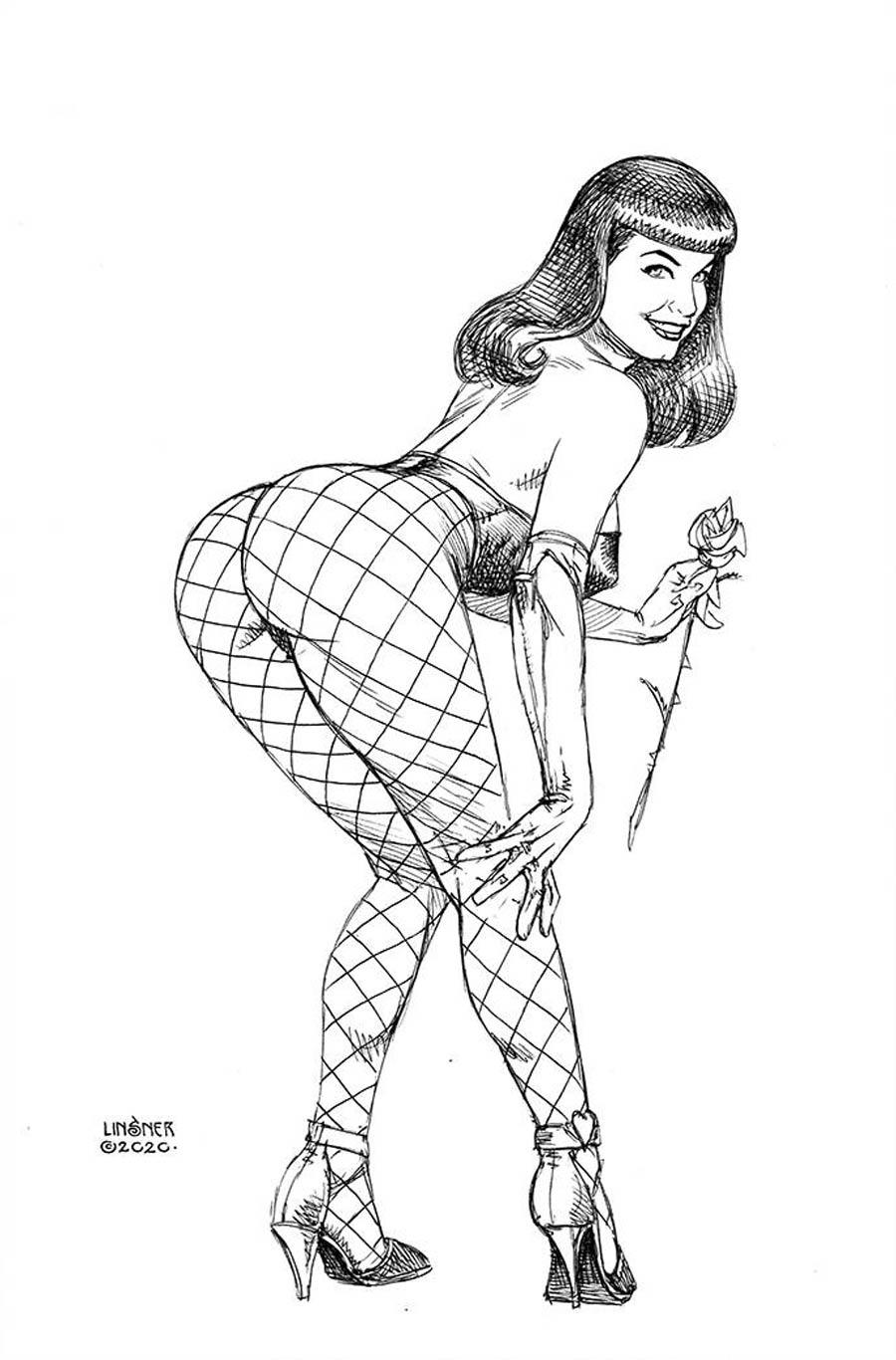 Bettie Page Vol 3 #5 Cover H Incentive Joseph Michael Linsner Black & White Virgin Cover