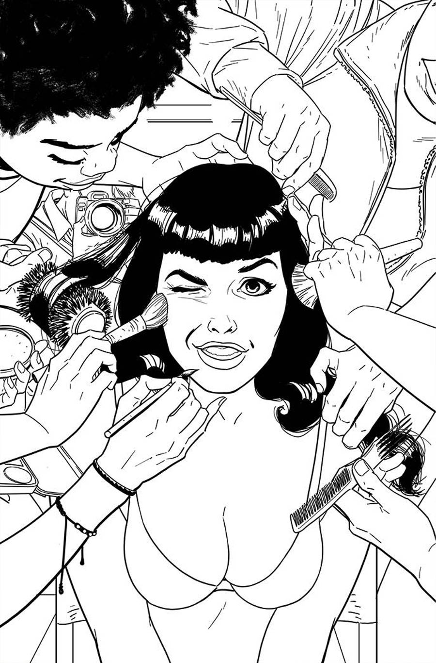 Bettie Page Vol 3 #5 Cover K Incentive Kano Black & White Virgin Cover