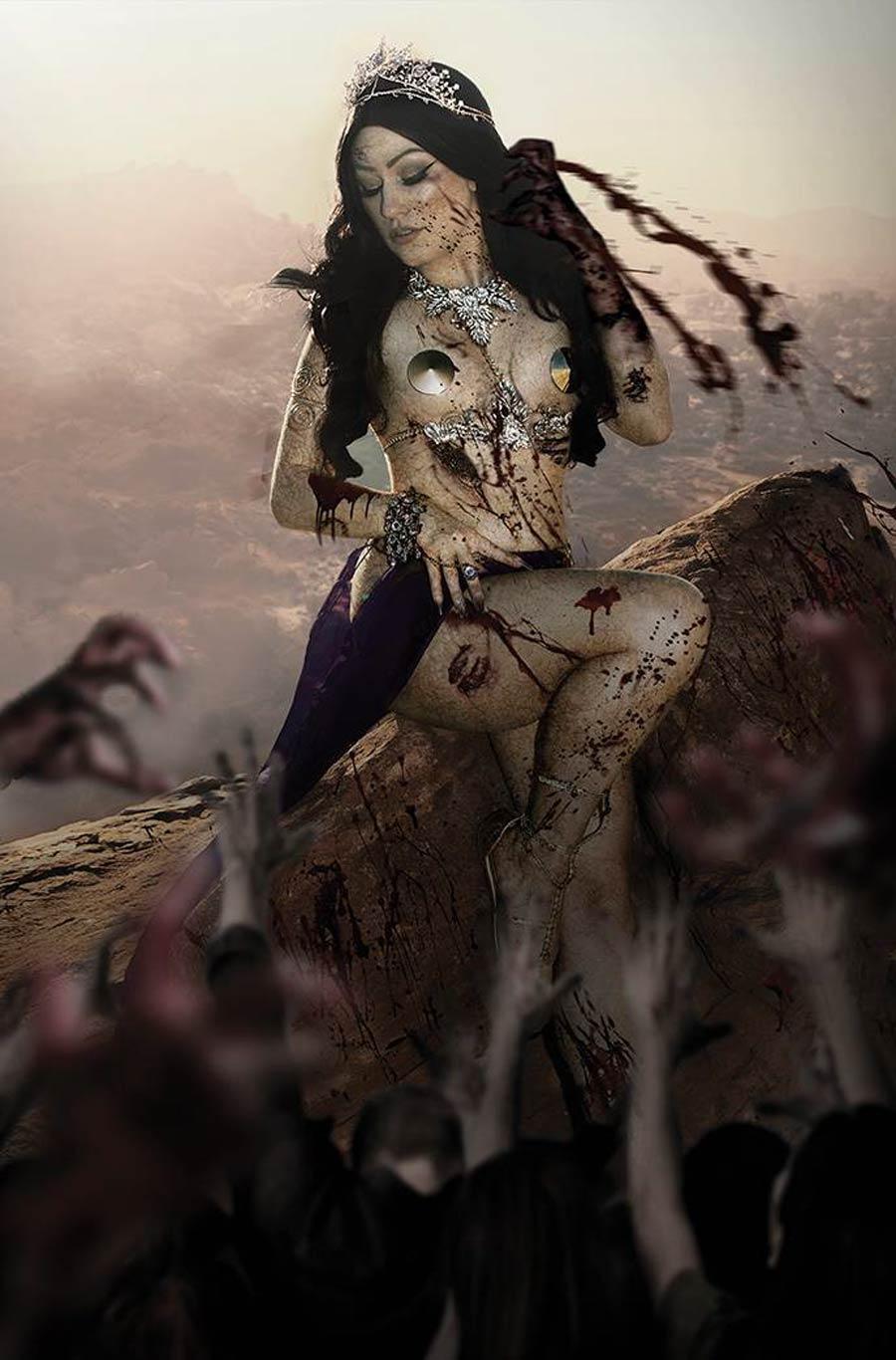 DieNamite #4 Cover P Incentive Rachel Hollon Zombie Cosplay Photo Virgin Cover