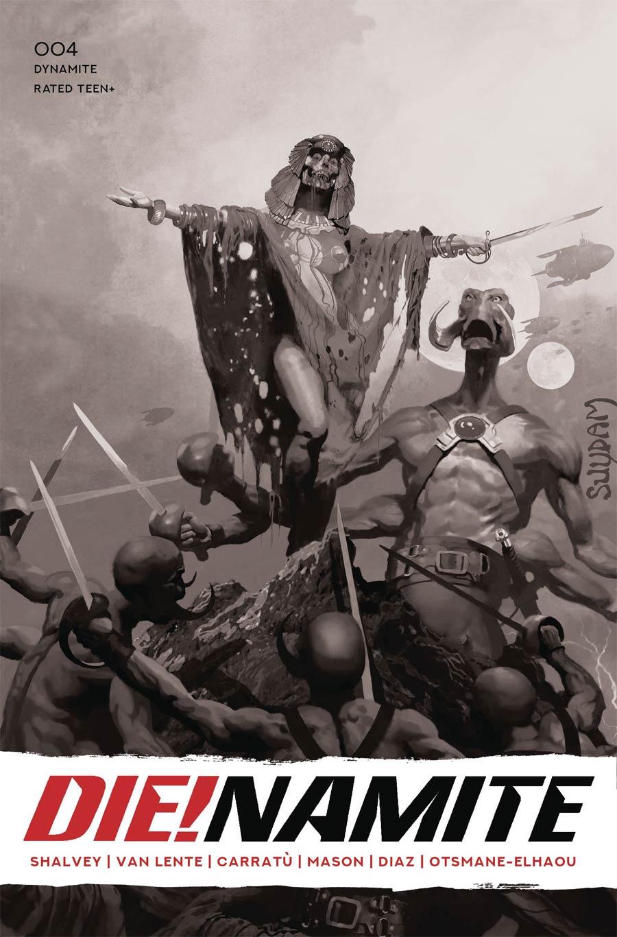 DieNamite #4 Cover W Incentive Arthur Suydam Living Dead Grayscale Cover