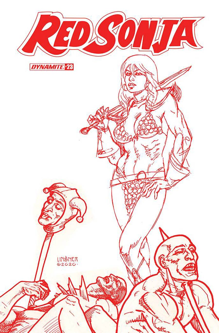 Red Sonja Vol 8 #23 Cover N Incentive Joseph Michael Linsner Tint Cover