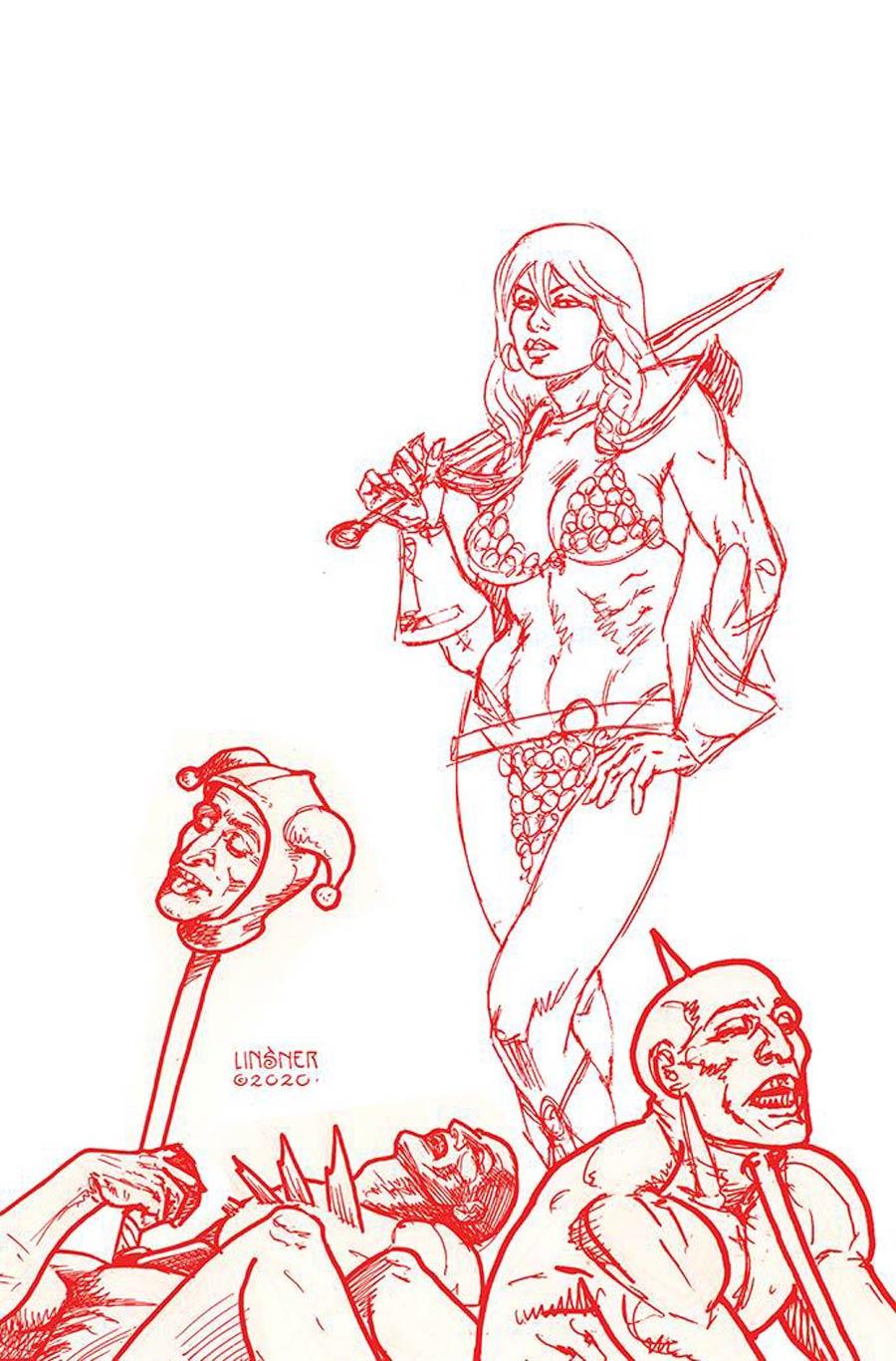 Red Sonja Vol 8 #23 Cover P Incentive Joseph Michael Linsner Tint Virgin Cover