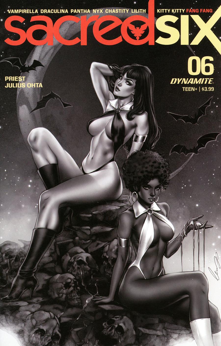 Sacred Six #6 Cover G Incentive Elias Chatzoudis Black & White Cover