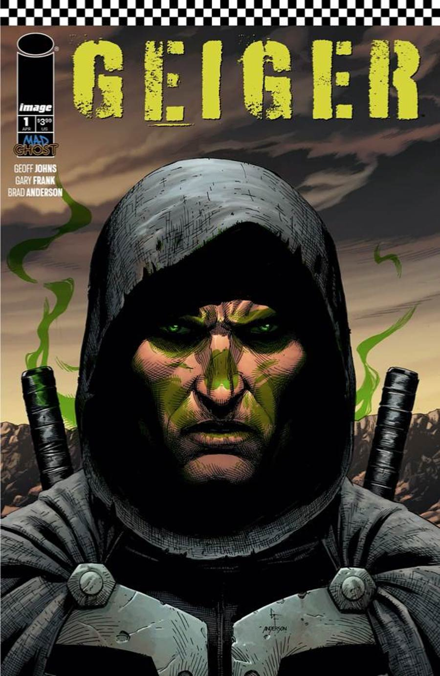 Geiger #1 Cover E Variant Gray Frank Glow-In-The-Dark Cover