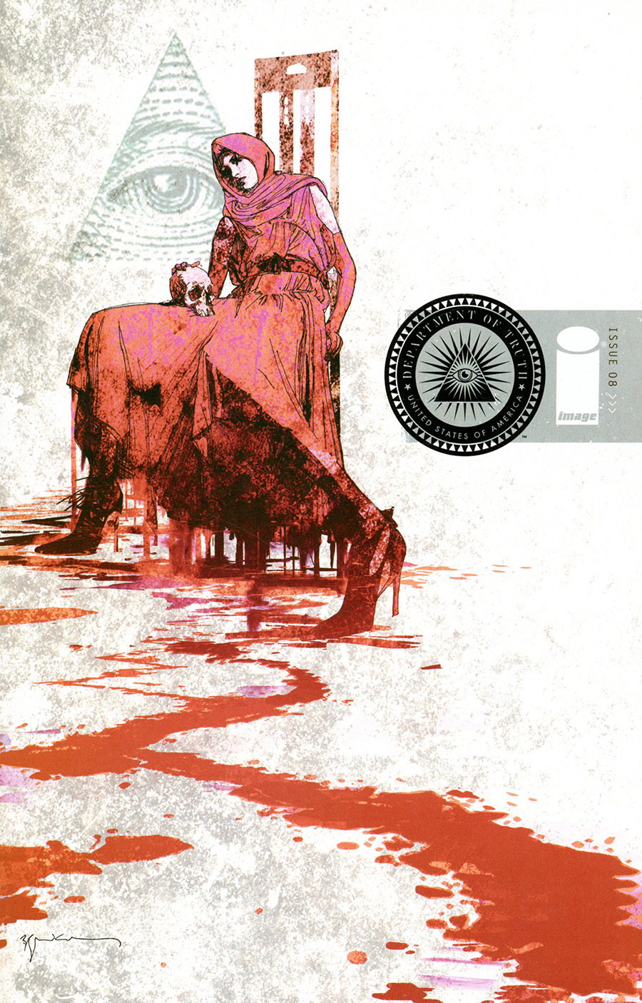 Department Of Truth #8 Cover B Variant Bill Sienkiewicz Cover (Limit 1 Per Customer)