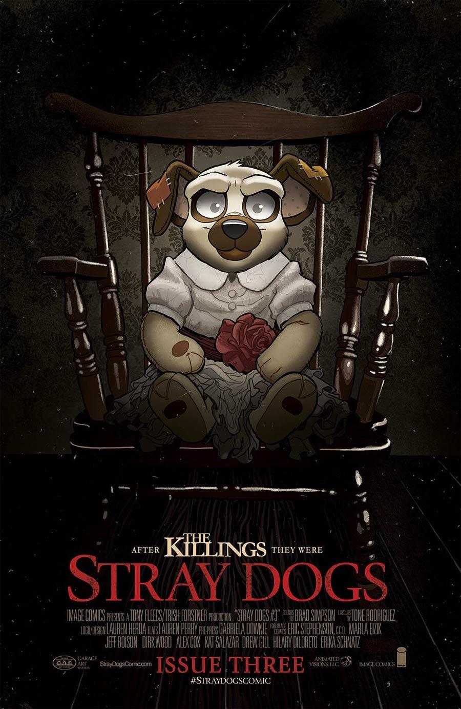 Stray Dogs #3 Cover B Variant Trish Forstner & Tony Fleecs Horror Movie Cover (Limit 1 Per Customer)
