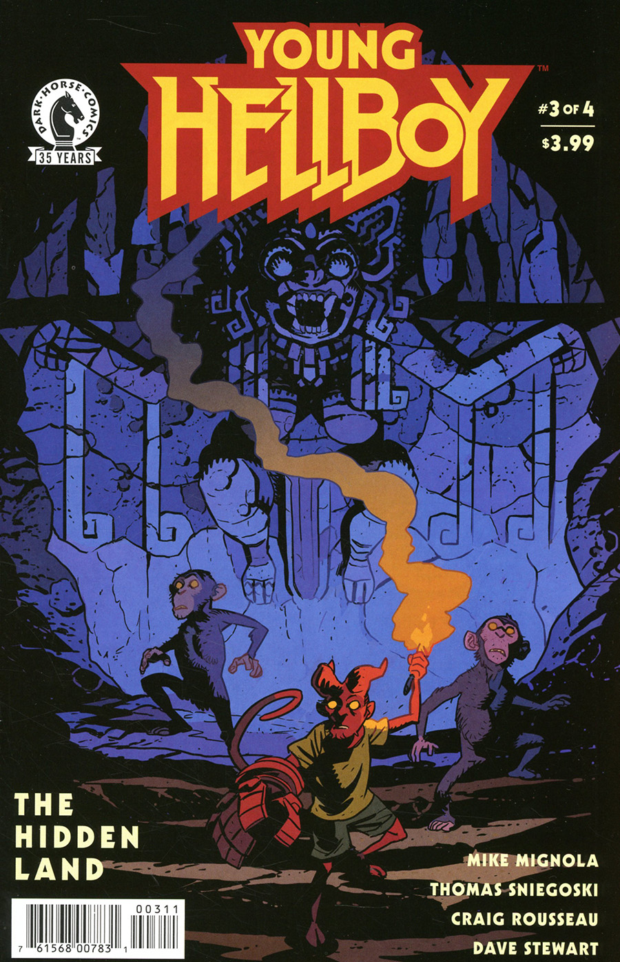 Young Hellboy The Hidden Land #3 Cover A Regular Matt Smith Cover