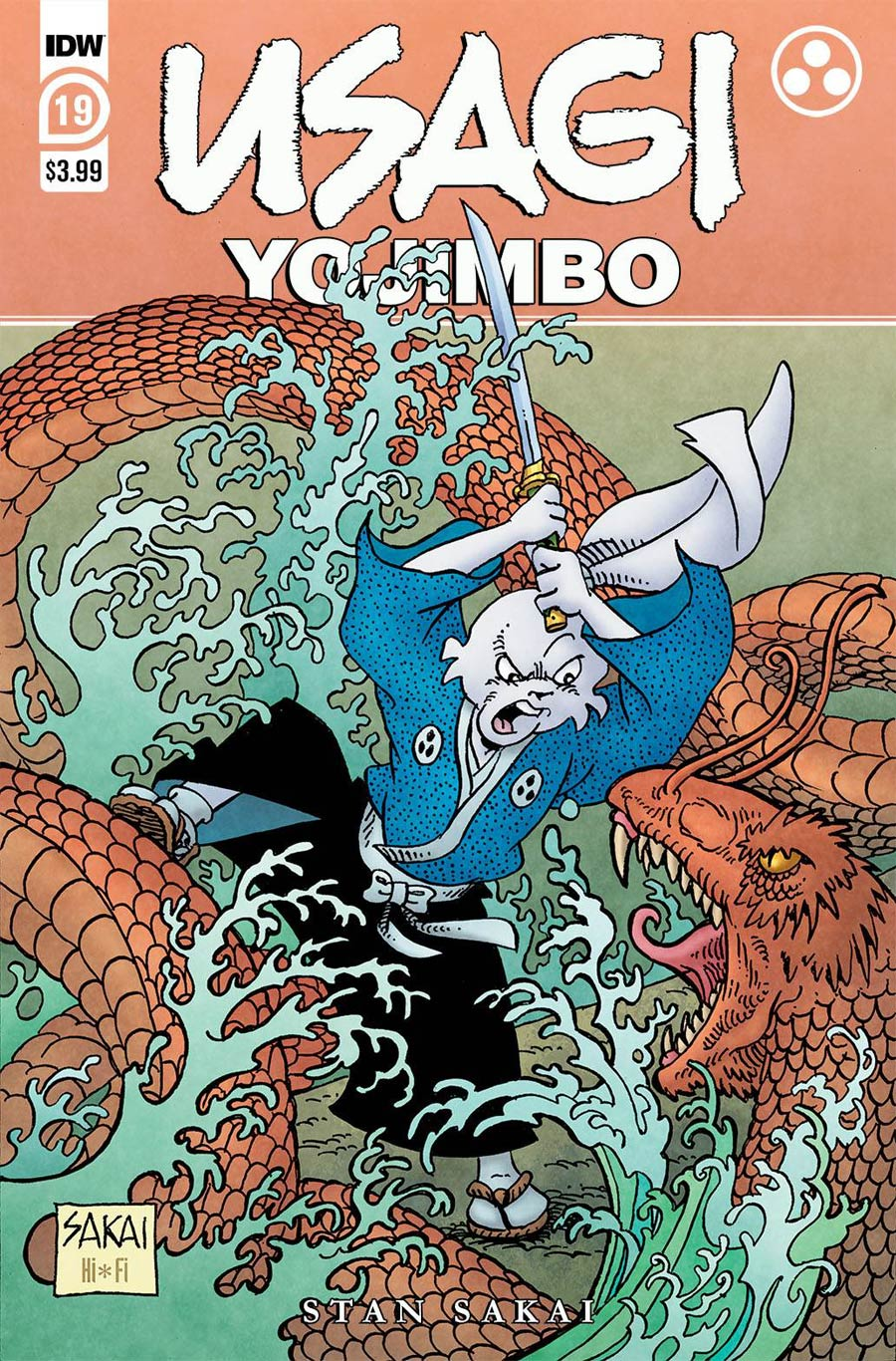 Usagi Yojimbo Vol 4 #19 Cover A Regular Stan Sakai Cover