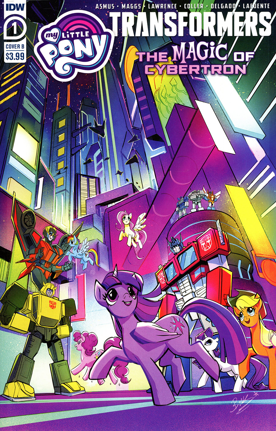 My Little Pony Transformers Friendship In Disguise II #1 Cover B Variant Bethany McGuire-Smith Cover
