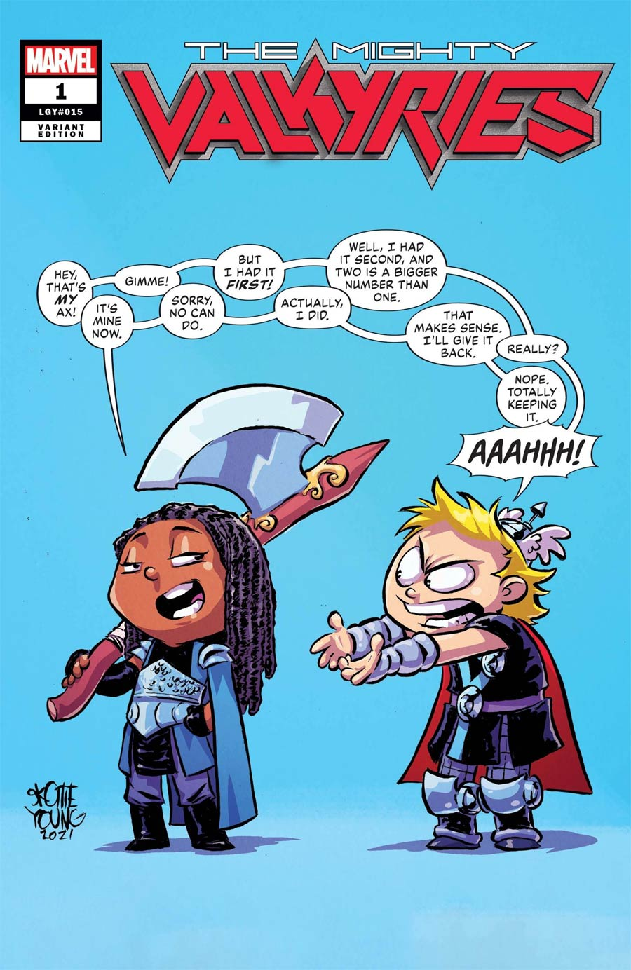 Mighty Valkyries #1 Cover C Variant Skottie Young Cover