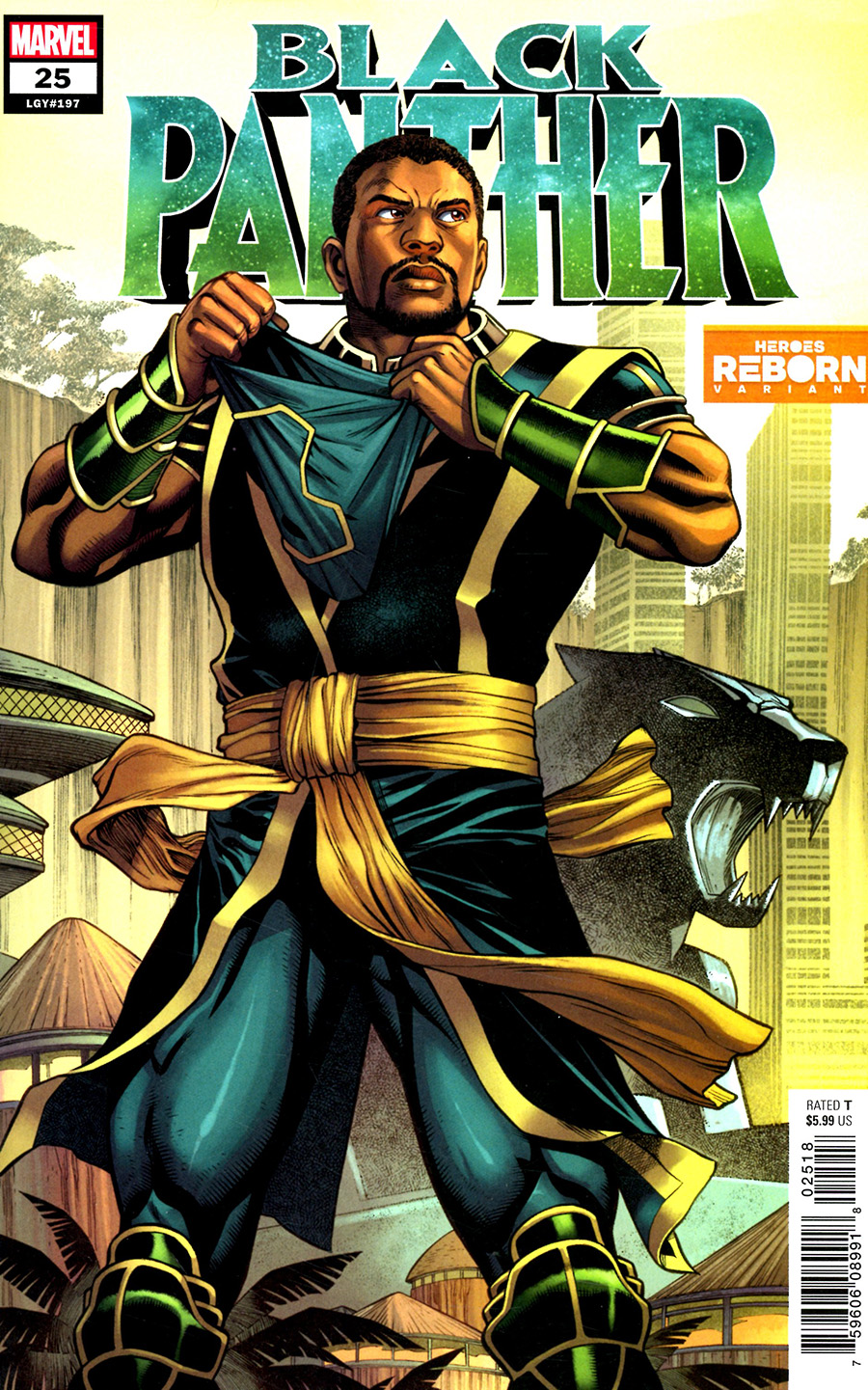 Black Panther Vol 7 #25 Cover B Variant Carlos Pacheco Heroes Reborn Cover