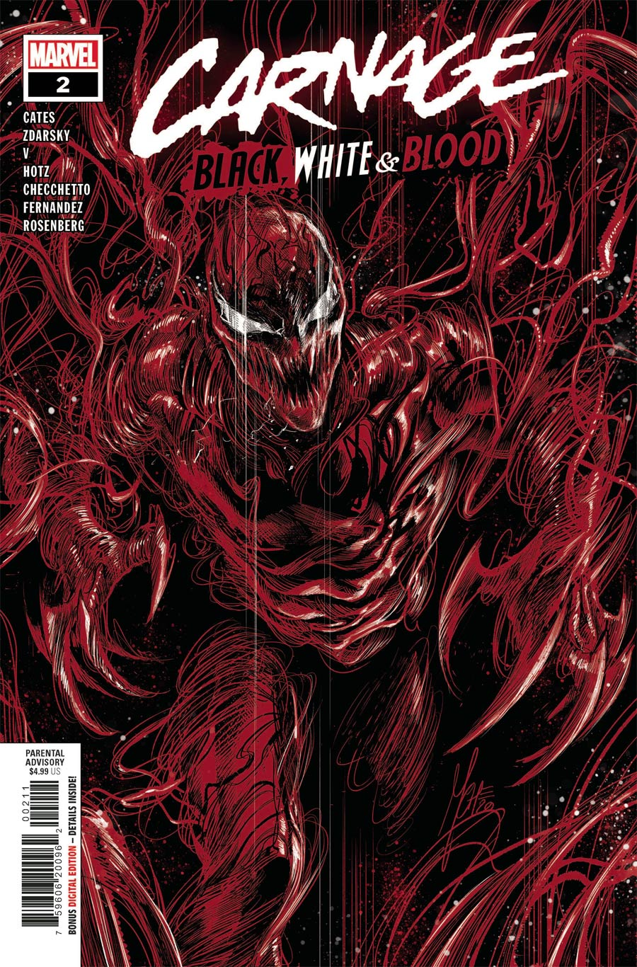 Carnage Black White & Blood #2 Cover A Regular Marco Checchetto Cover