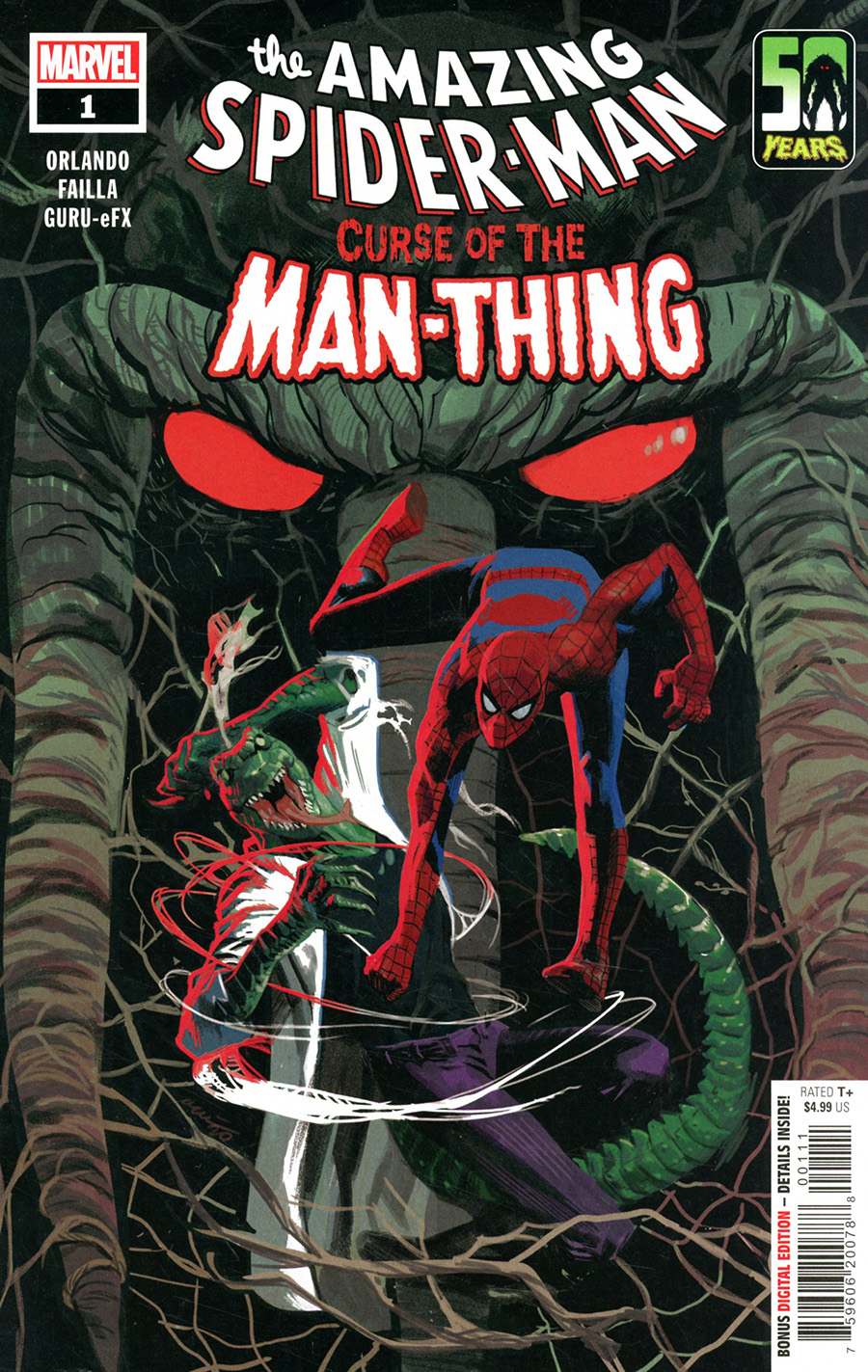 Spider-Man Curse Of The Man-Thing #1 (One Shot) Cover A Regular Daniel Acuna Cover