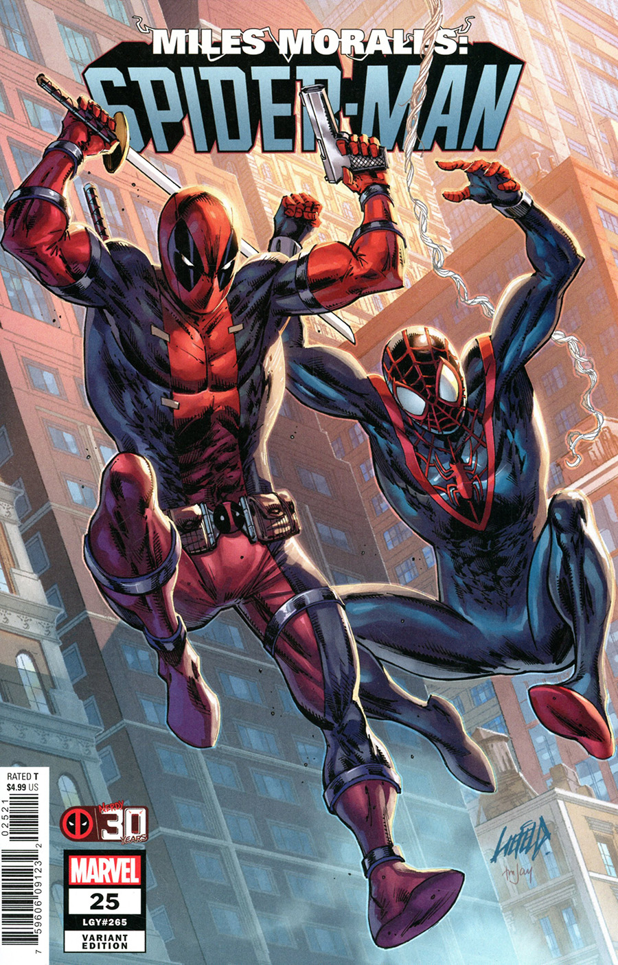Miles Morales Spider-Man #25 Cover C Variant Rob Liefeld Deadpool 30th Anniversary Cover