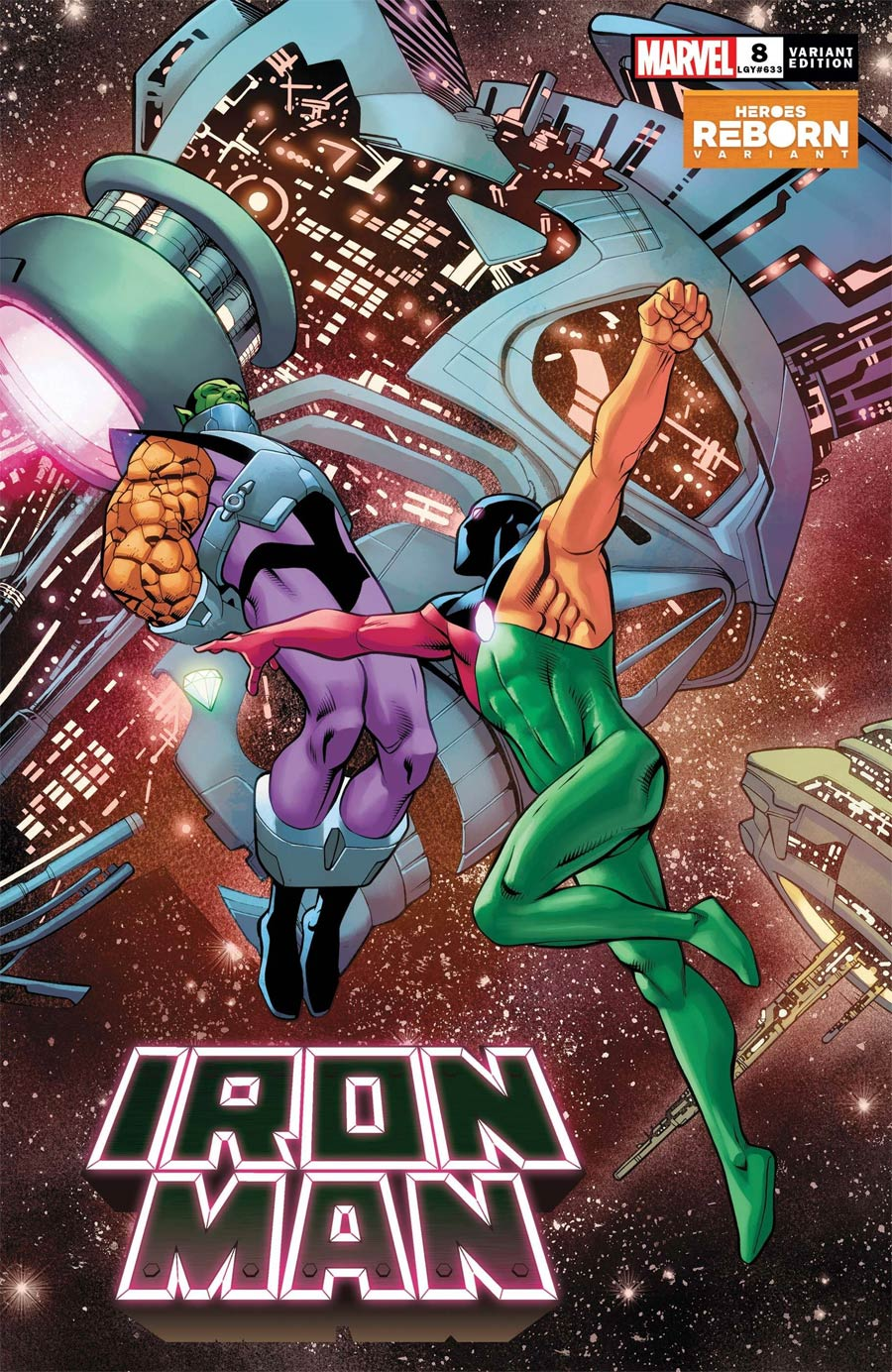 Iron Man Vol 6 #8 Cover B Variant Carlos Pacheco Heroes Reborn Cover