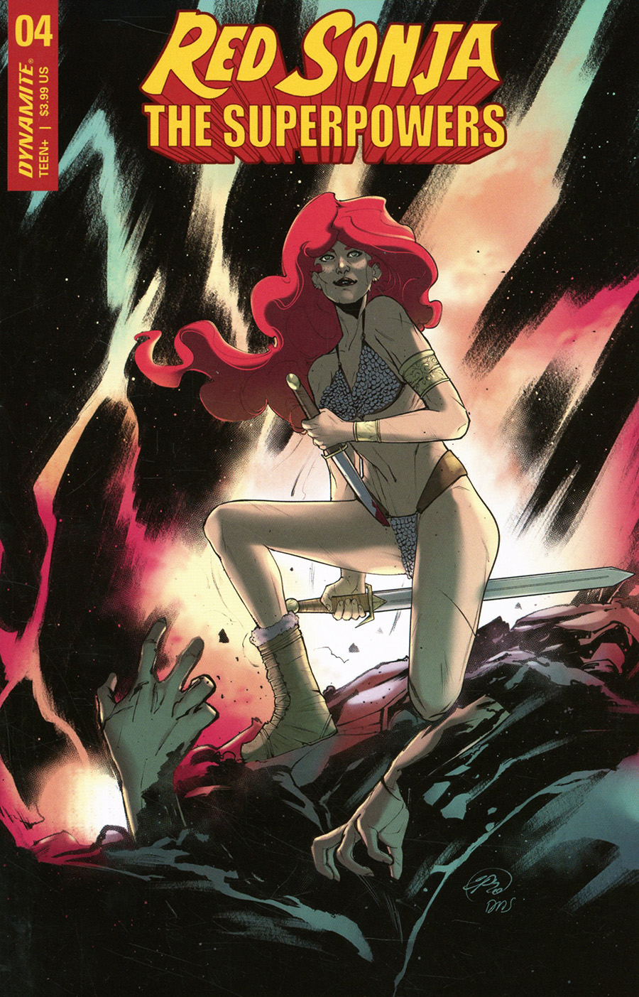 Red Sonja The Superpowers #4 Cover F Variant Emiliana Pinna Cover