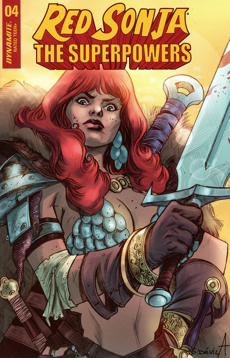 Red Sonja The Superpowers #4 Cover G Variant Sergio Davila Cover