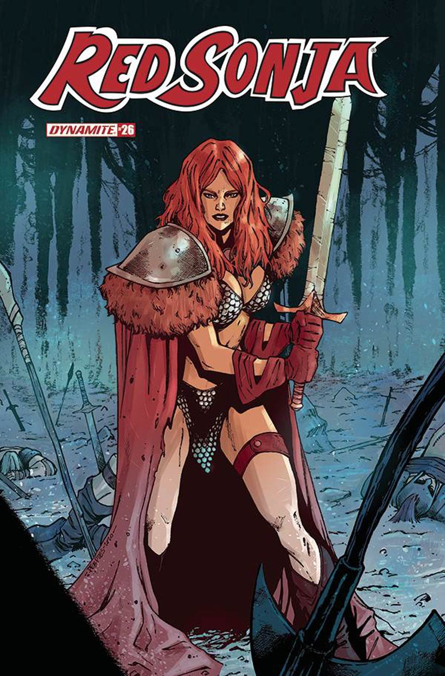 Red Sonja Vol 8 #26 Cover C Variant Brent Peeples Cover