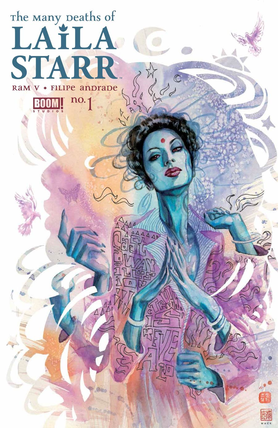 Many Deaths Of Laila Starr #1 Cover B Variant David Mack Death Foil Cover