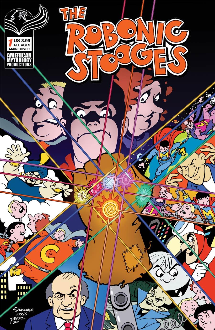 Robonic Stooges #1 Return Cover A Regular Eric Shanower Cover