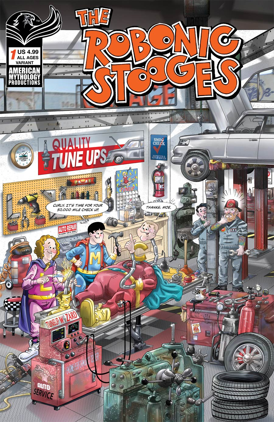 Robonic Stooges #1 Return Cover B Variant Jorge Pacheco Cover