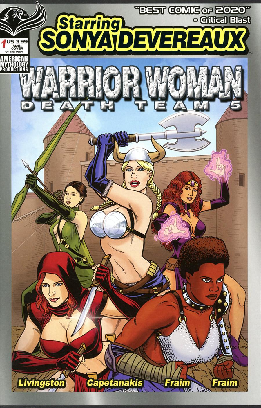 Starring Sonya Devereaux Warrior Women Death Team 5 #1 (One Shot) Cover A Regular Brendon Fraim & Brian Fraim Cover