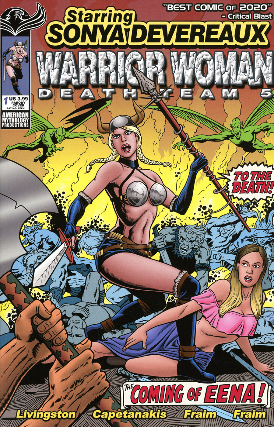 Starring Sonya Devereaux Warrior Women Death Team 5 #1 (One Shot) Cover B Variant Parody Cover