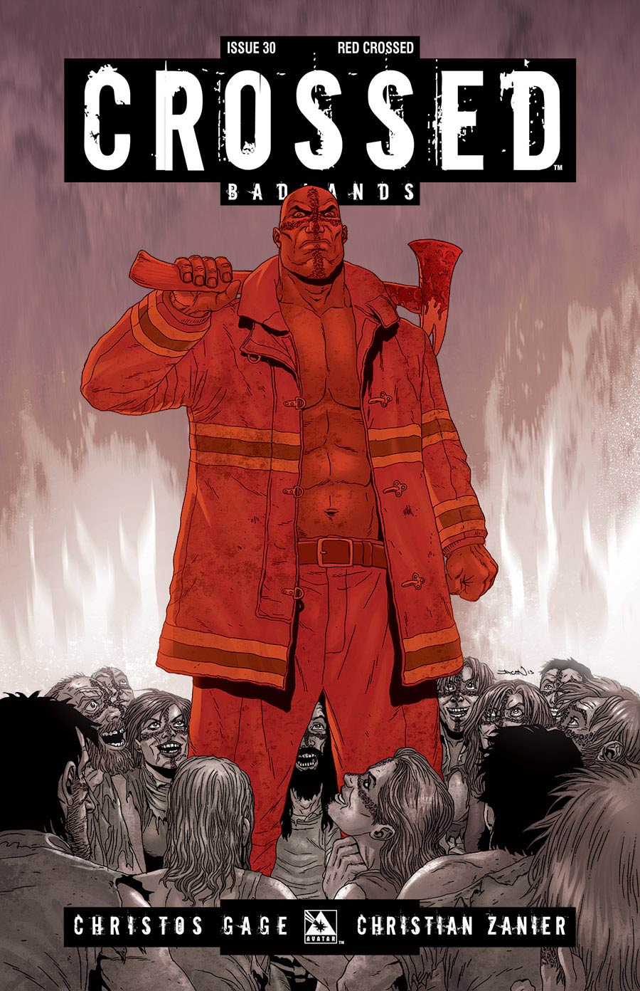 Crossed Badlands #30 Red Crossed Cover (Sale Edition)