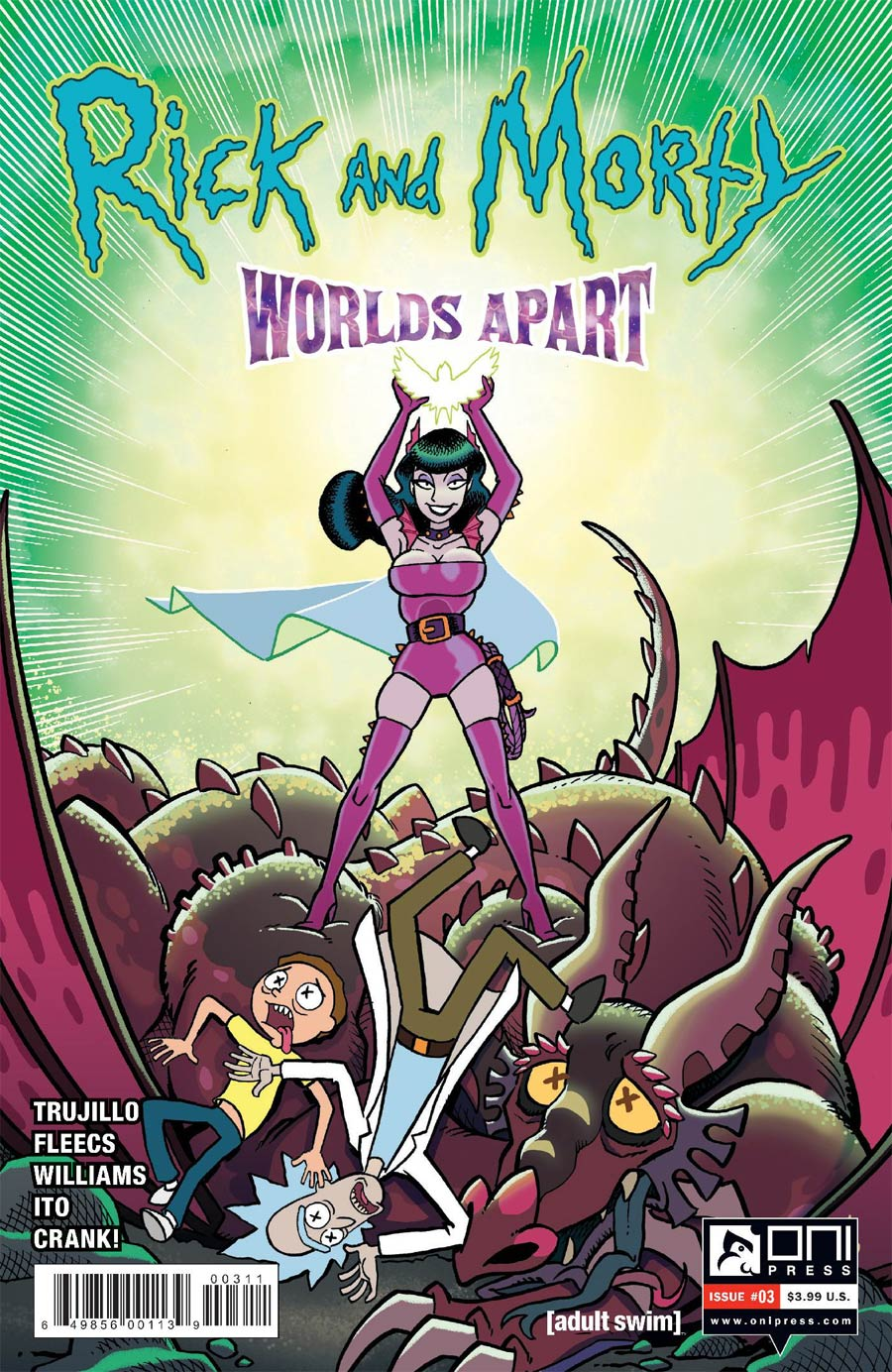 Rick And Morty Worlds Apart #3 Cover A Regular Tony Fleecs Cover