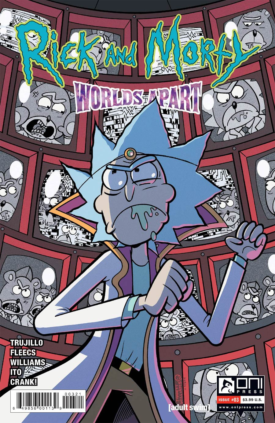 Rick And Morty Worlds Apart #3 Cover B Variant Jarrett Williams Cover
