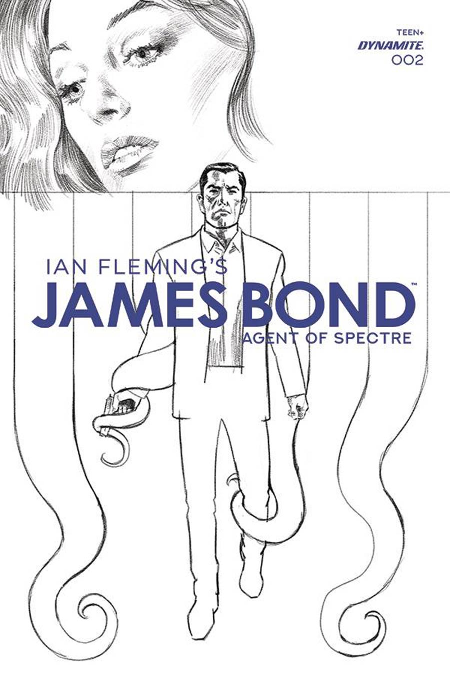 James Bond Agent Of SPECTRE #2 Cover F Incentive Sean Phillips Black & White Cover