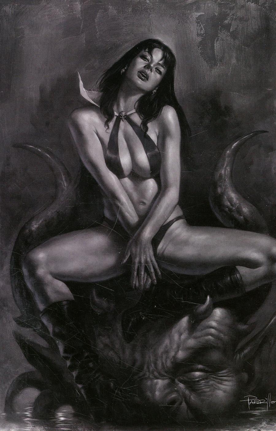 Vampirella Vol 8 #20 Cover R Incentive Lucio Parrillo Black & White Virgin Cover
