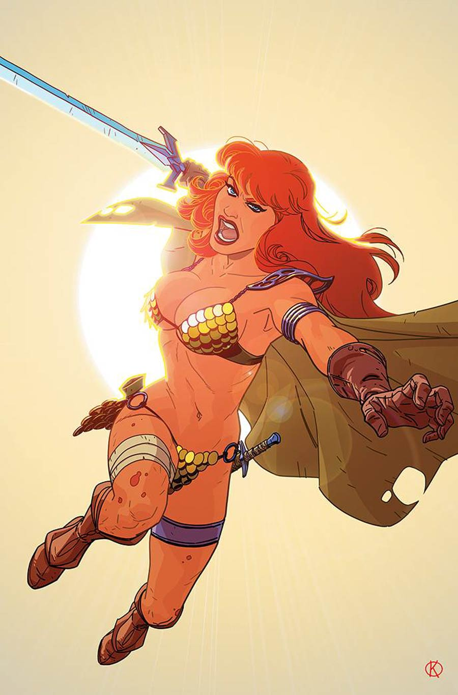 Red Sonja The Superpowers #4 Cover O Incentive Kano Virgin Cover
