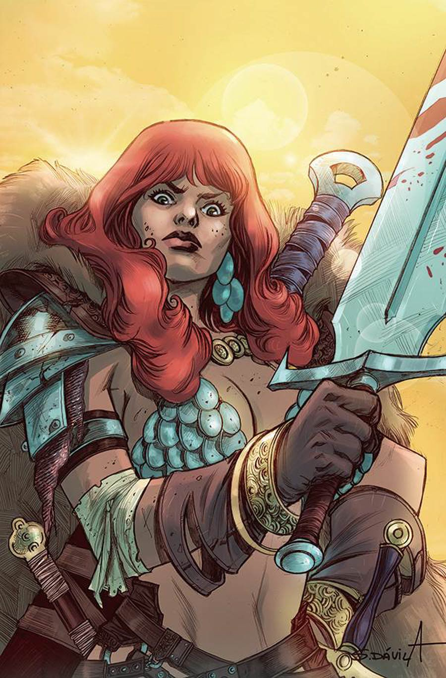 Red Sonja The Superpowers #4 Cover Q Incentive Sergio Davila Virgin Cover