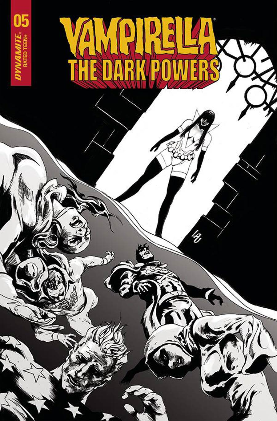 Vampirella The Dark Powers #5 Cover L Incentive Jonathan Lau Black & White Cover