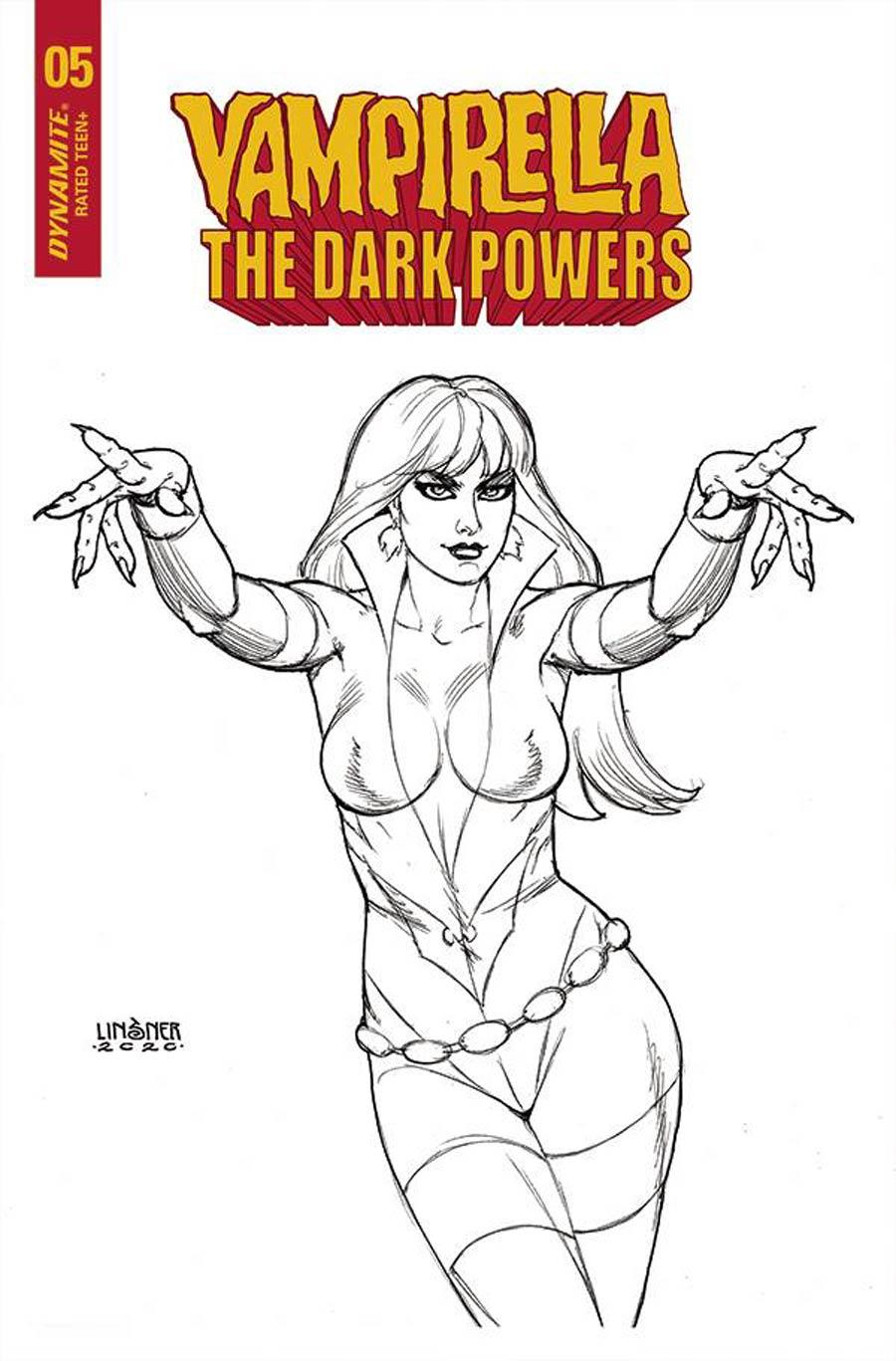 Vampirella The Dark Powers #5 Cover N Incentive Joseph Michael Linsner Black & White Cover