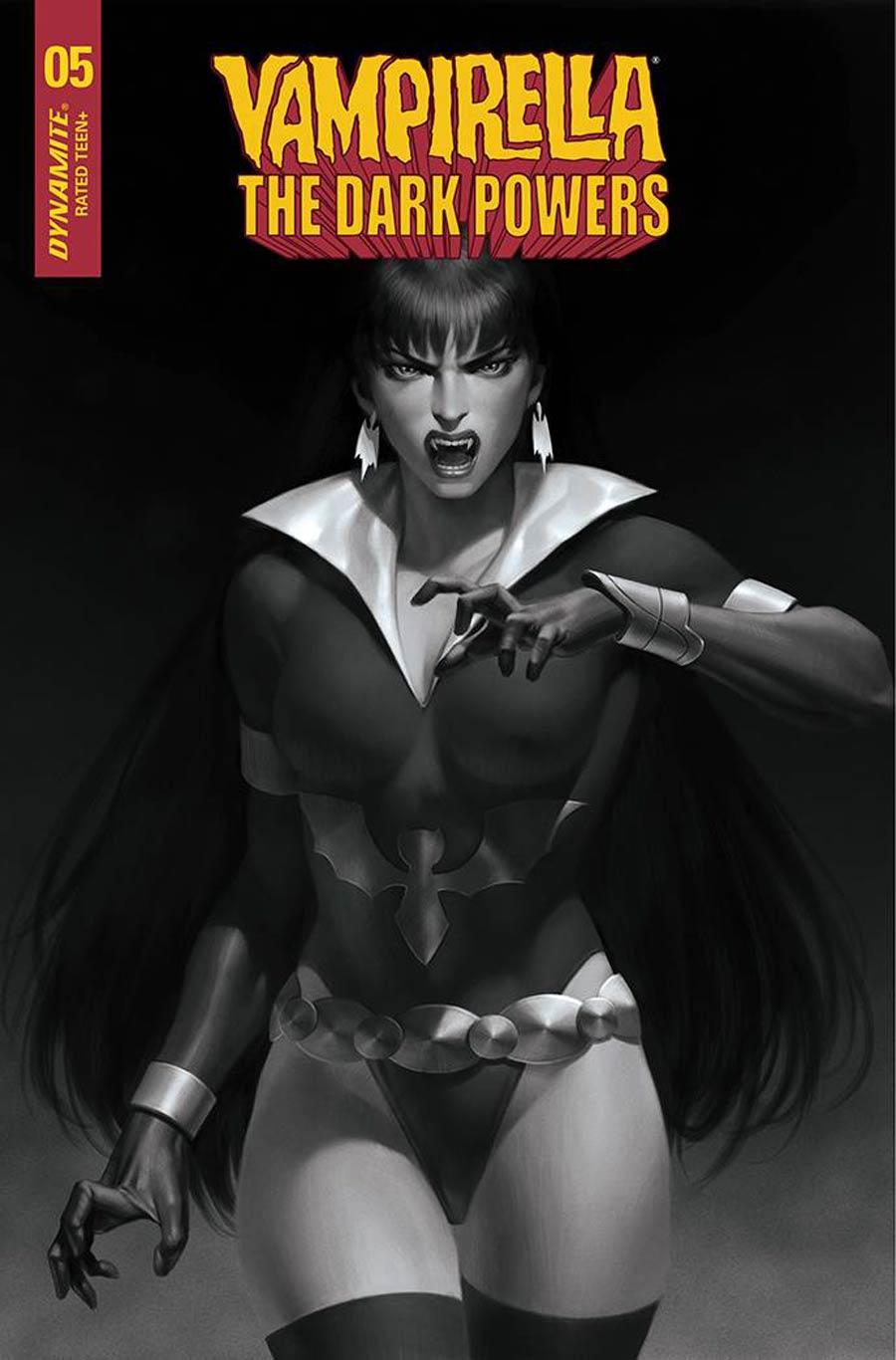 Vampirella The Dark Powers #5 Cover S Incentive Junggeun Yoon Black & White Cover