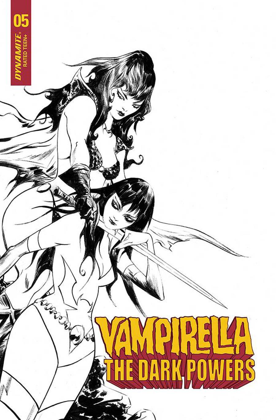 Vampirella The Dark Powers #5 Cover U Incentive Jae Lee Black & White Cover
