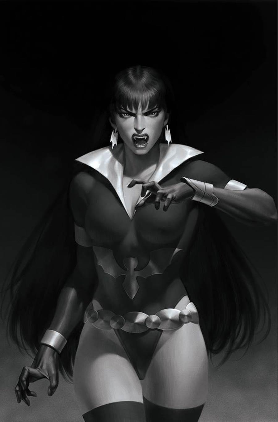Vampirella The Dark Powers #5 Cover V Incentive Junggeun Yoon Black & White Virgin Cover