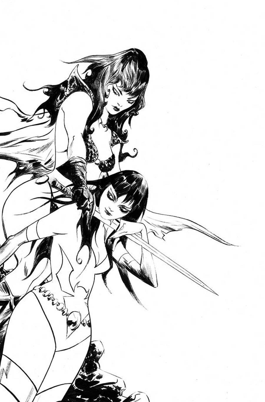 Vampirella The Dark Powers #5 Cover W Incentive Jae Lee Black & White Virgin Cover