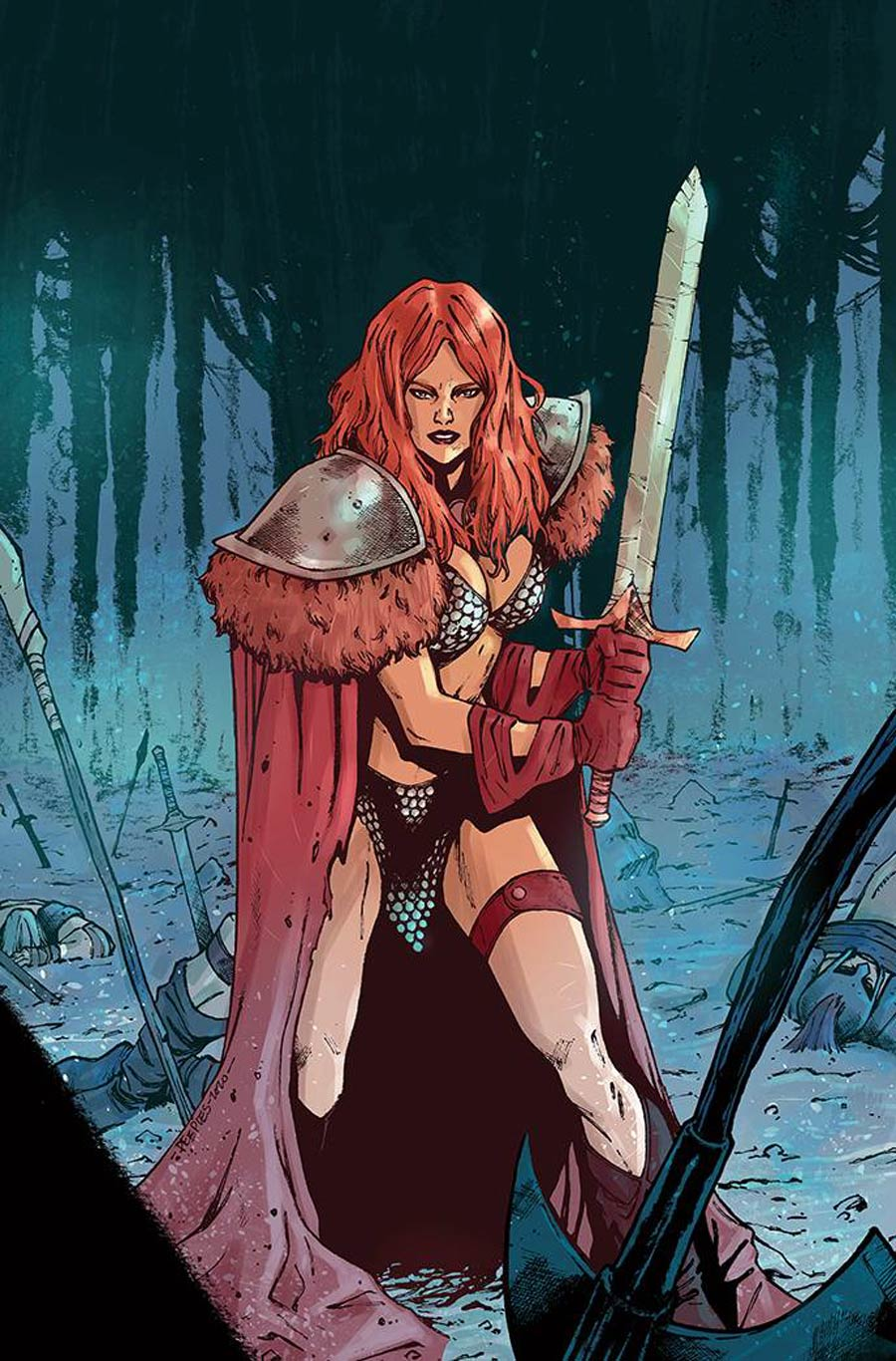 Red Sonja Vol 8 #26 Cover J Incentive Brent Peeples Virgin Cover