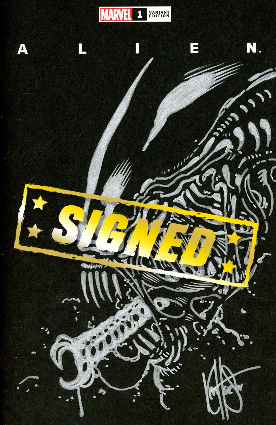 Alien #1 Cover T DF Signed & Remarked By Ken Haeser