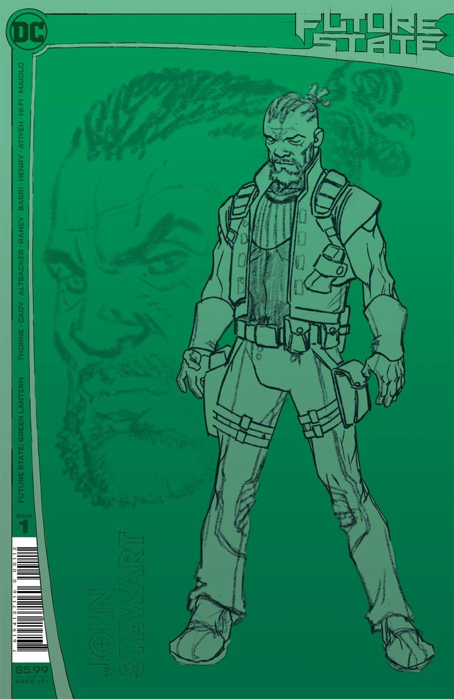 Future State Green Lantern #1 Cover C 2nd Ptg Tom Raney Design Variant Cover