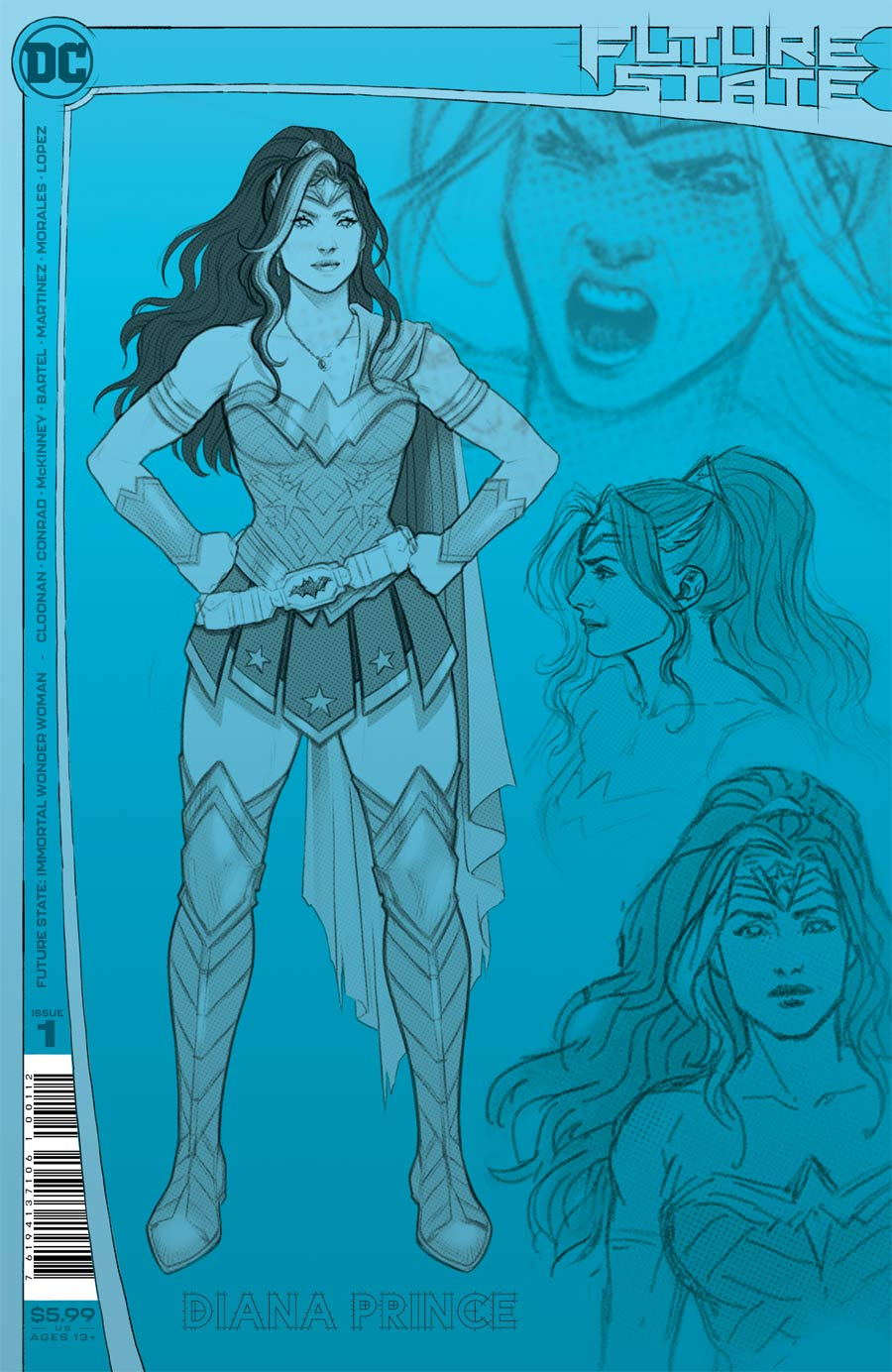 Future State Immortal Wonder Woman #1 Cover C 2nd Ptg Jen Bartel Design Variant Cover