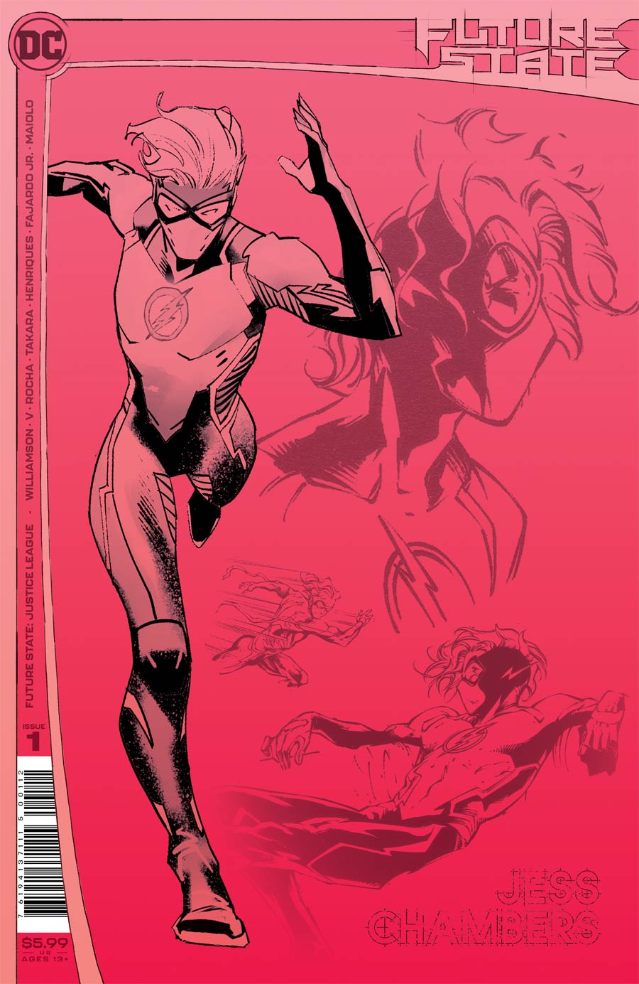 Future State Justice League #1 Cover D 2nd Ptg Dan Mora & Robson Rocha Design Variant Cover