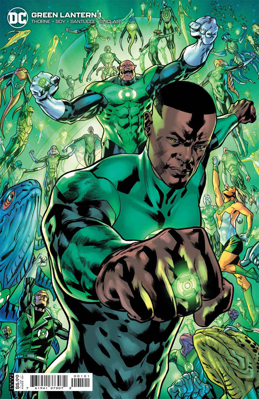 Green Lantern Vol 7 #1 Cover B Variant Bryan Hitch Card Stock Cover