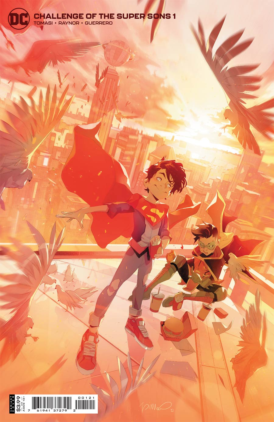 Challenge Of The Super Sons #1 Cover B Variant Simone Di Meo Cover