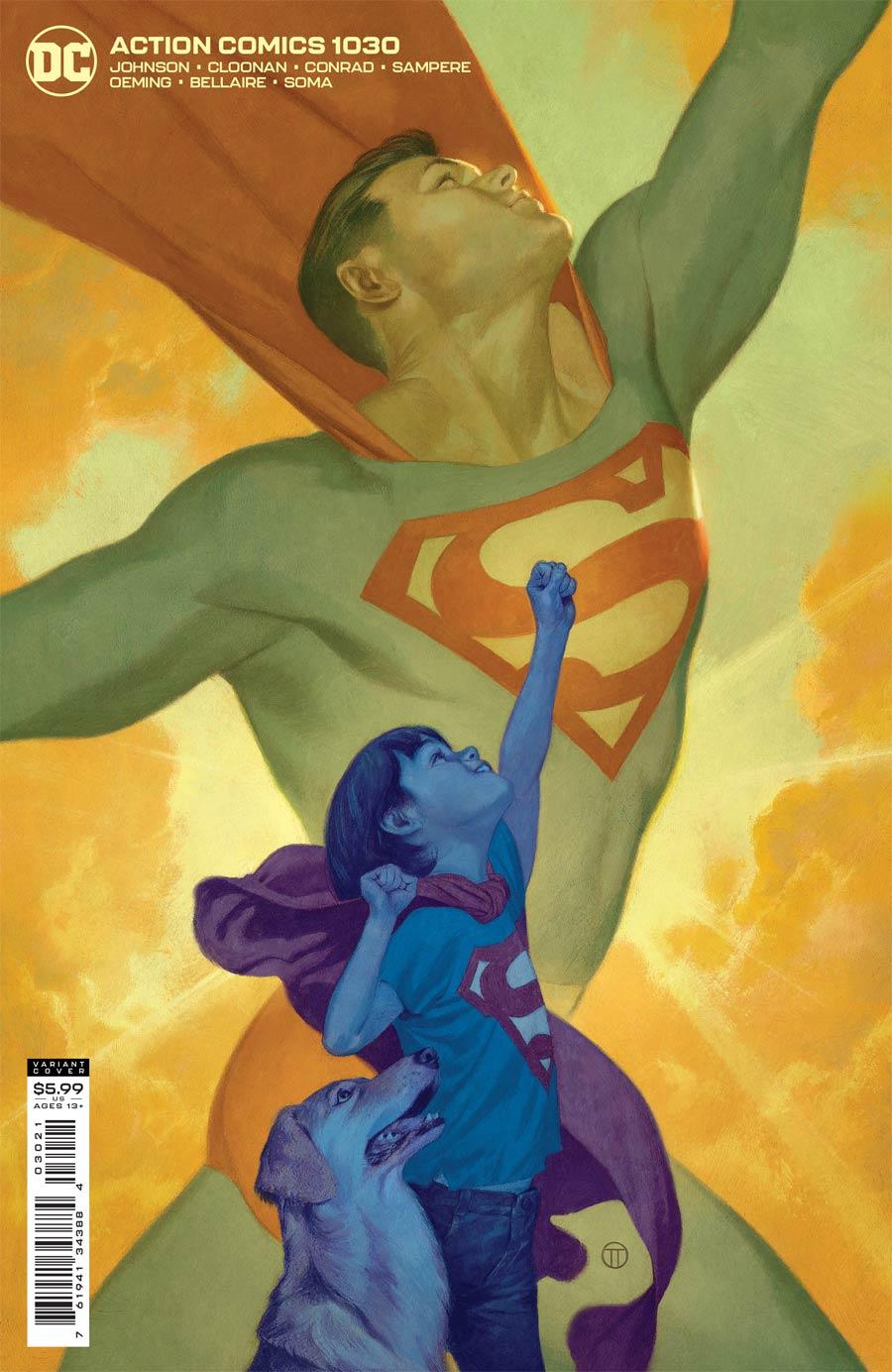 Action Comics Vol 2 #1030 Cover B Variant Julian Totino Tedesco Card Stock Cover