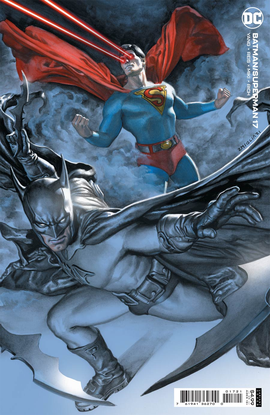 Batman Superman Vol 2 #17 Cover B Variant Rodolfo Migliari Card Stock Cover